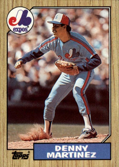1987 Topps #252 Dennis Martinez
