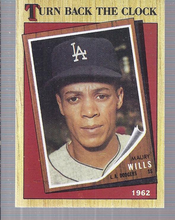 1987 Topps #315 Maury Wills TBC '62