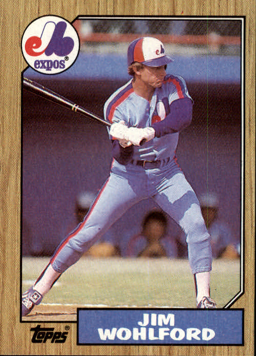 1987 Topps #527 Jim Wohlford