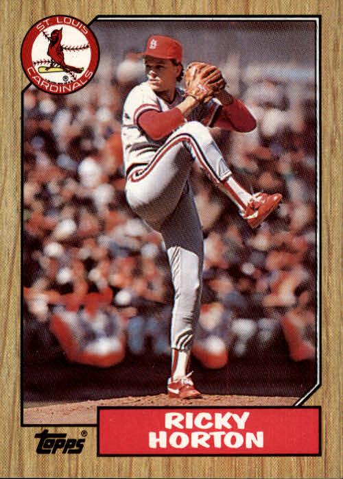 1987 Topps #542 Ricky Horton