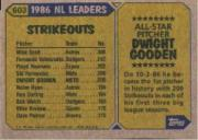 1987 Topps #603B Dwight Gooden AS TM back image