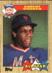 1987 Topps #603B Dwight Gooden AS TM