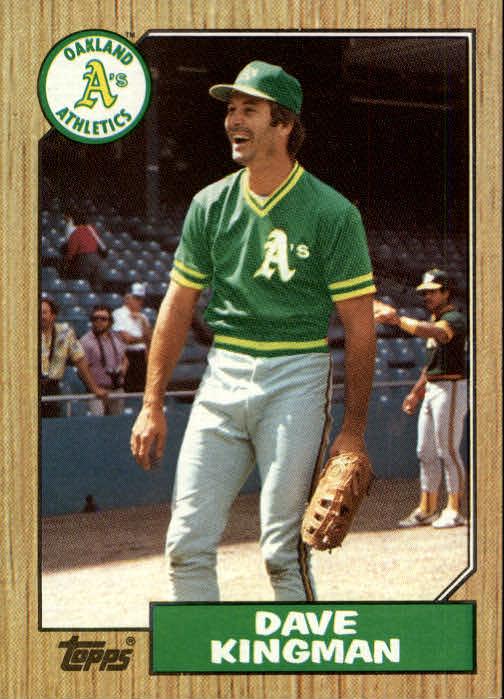 1987 Topps #709 Dave Kingman