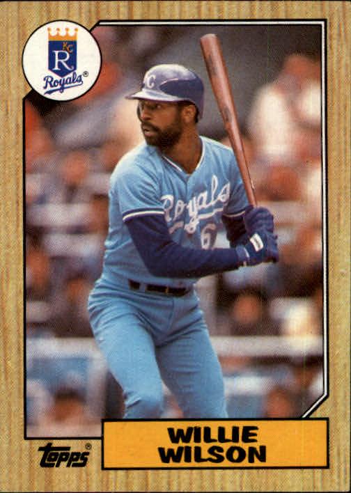 1987 Topps #783 Willie Wilson