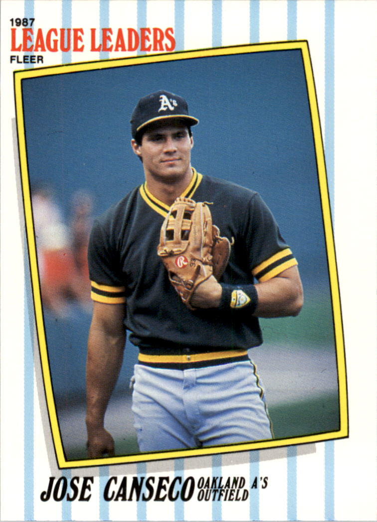 1987 Fleer League Leaders #8 Jose Canseco