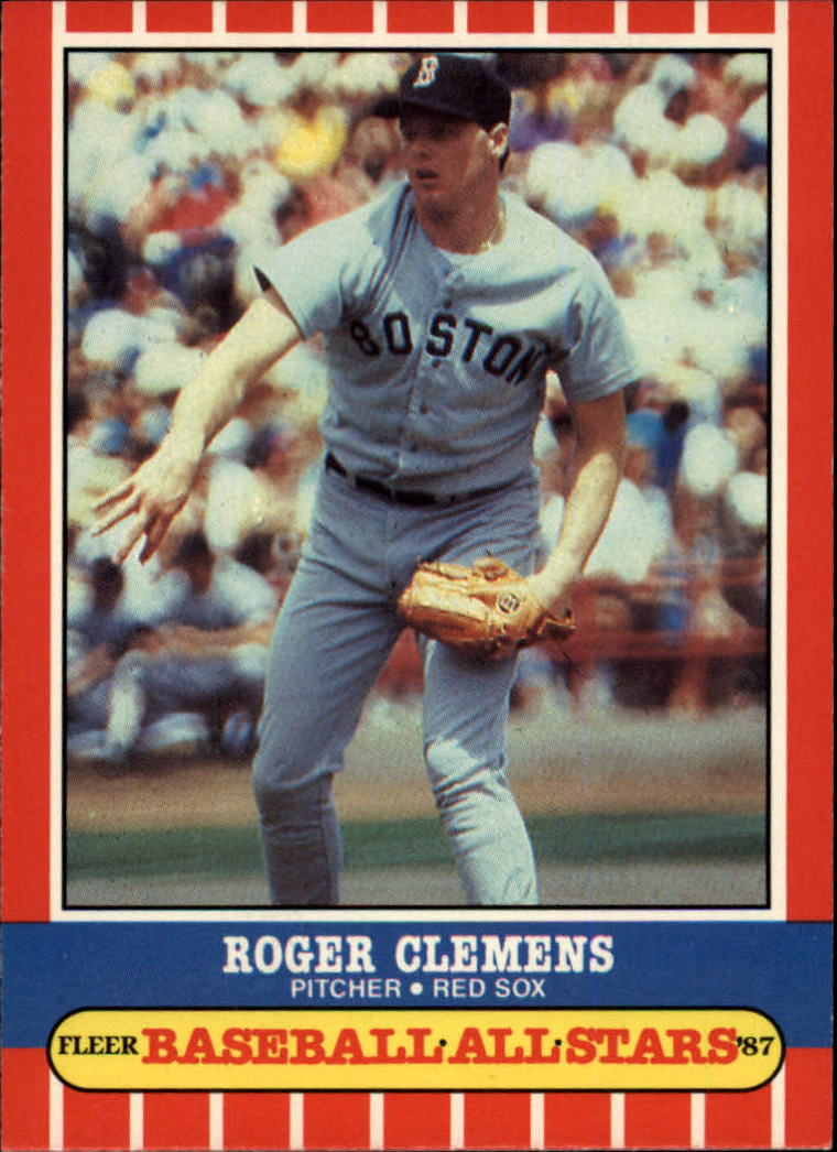 1987 Fleer Baseball All-Stars #10 Roger Clemens