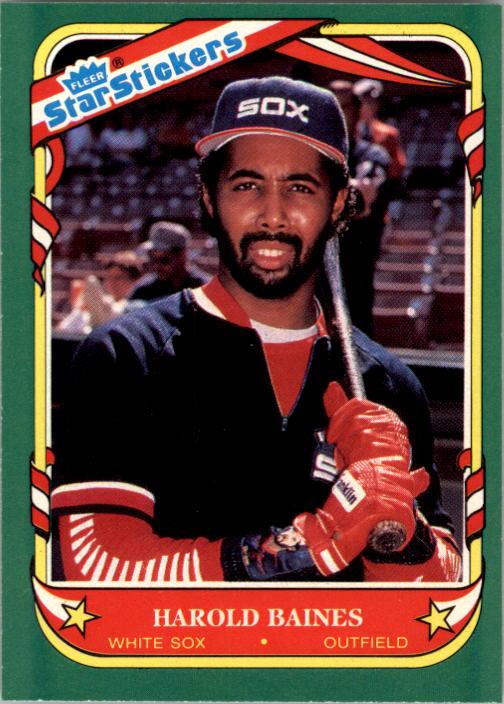 1987 Fleer Star Stickers #2 Harold Baines