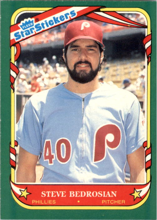1987 Fleer Star Stickers #8 Steve Bedrosian
