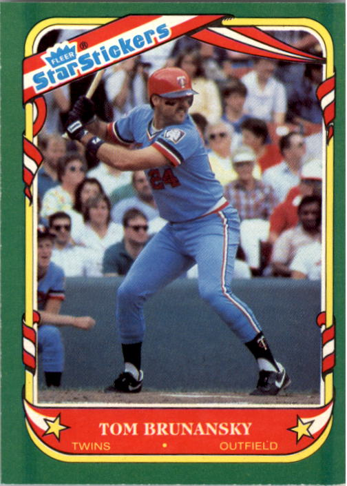 1987 Fleer Star Stickers #17 Tom Brunansky