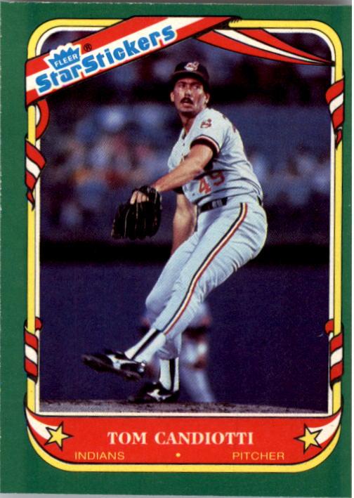 1987 Fleer Star Stickers #18 Tom Candiotti