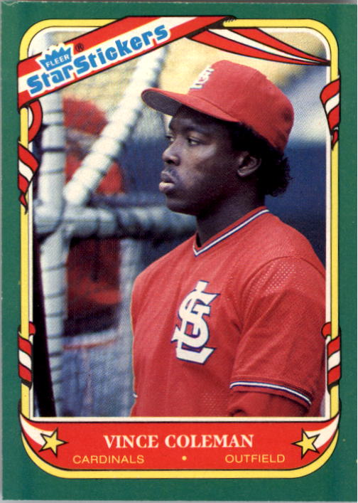 1987 Fleer Star Stickers #25 Vince Coleman