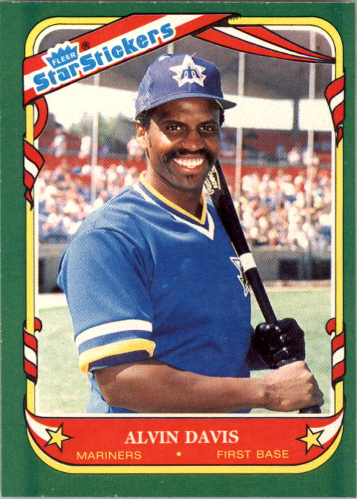 1987 Fleer Star Stickers #28 Alvin Davis