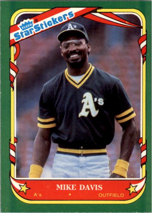 1987 Fleer Star Stickers #32 Mike Davis