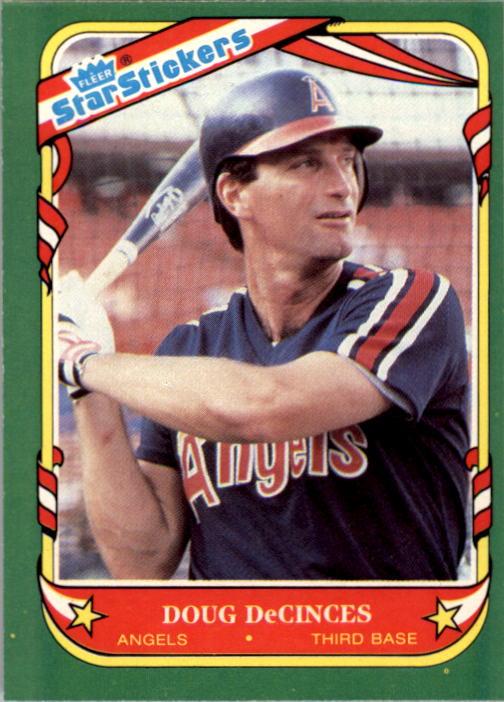 1987 Fleer Star Stickers #34 Doug DeCinces