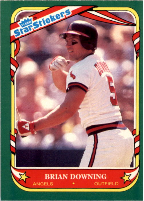 1987 Fleer Star Stickers #35 Brian Downing