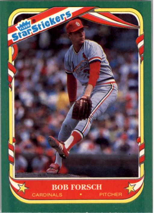 1987 Fleer Star Stickers #40 Bob Forsch