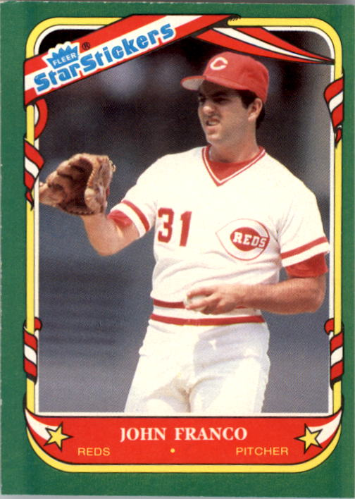 1987 Fleer Star Stickers #41 John Franco