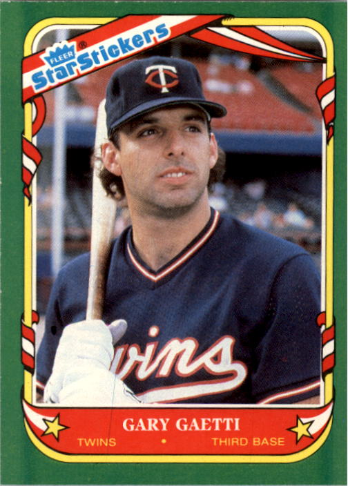 1987 Fleer Star Stickers #43 Gary Gaetti
