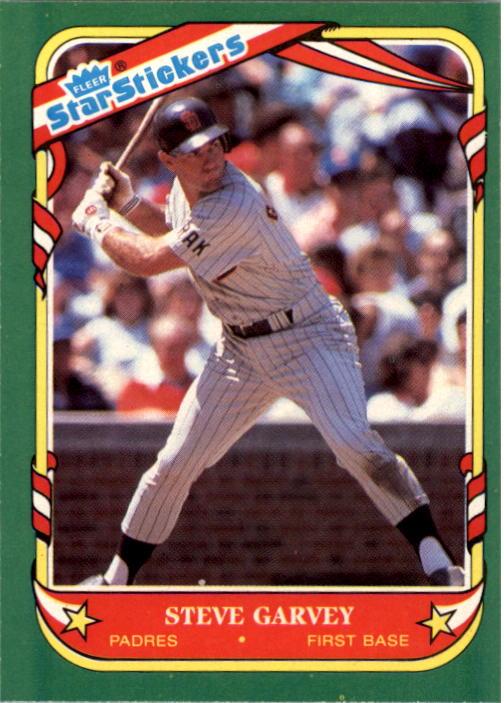 1987 Fleer Star Stickers #46 Steve Garvey