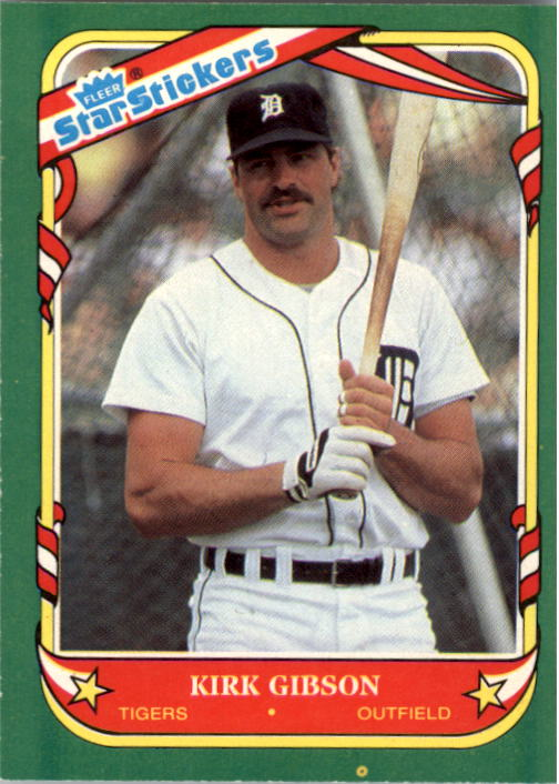 1987 Fleer Star Stickers #47 Kirk Gibson