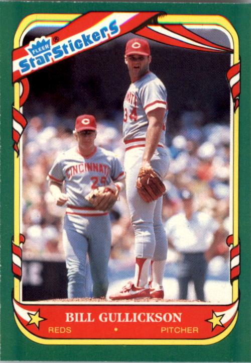 1987 Fleer Star Stickers #51 Bill Gullickson