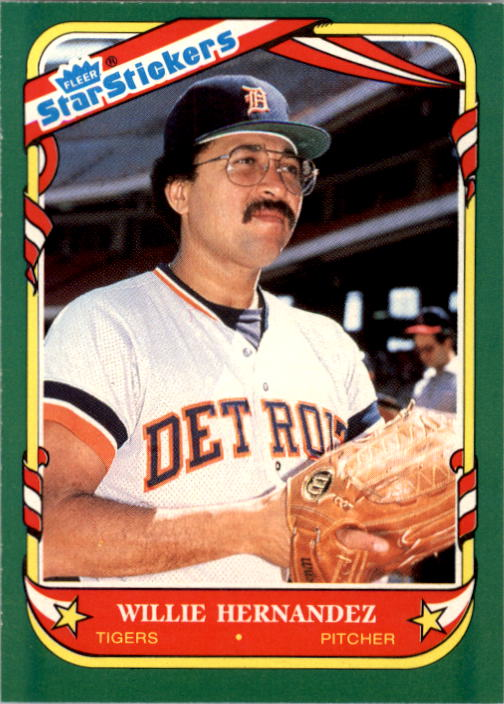 1987 Fleer Star Stickers #59 Willie Hernandez
