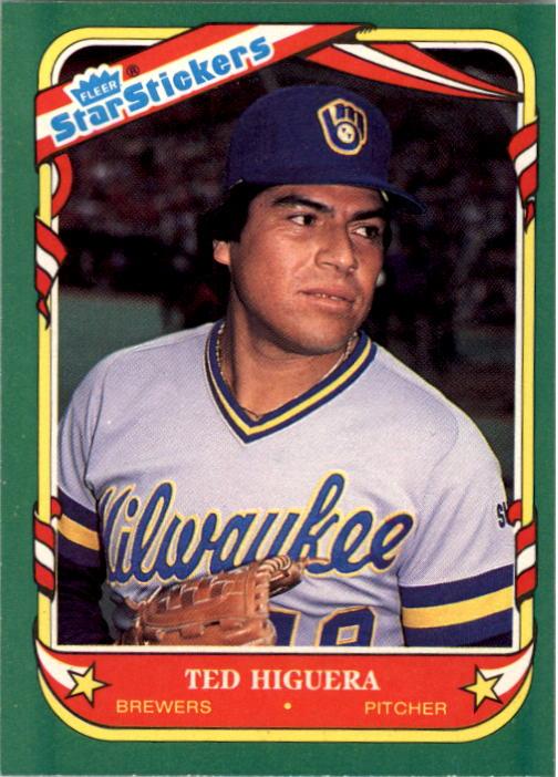 1987 Fleer Star Stickers #60 Ted Higuera