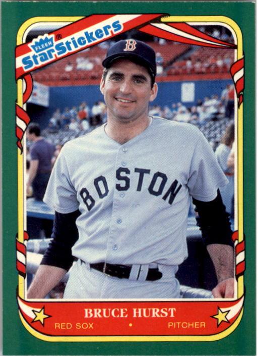 1987 Fleer Star Stickers #65 Bruce Hurst