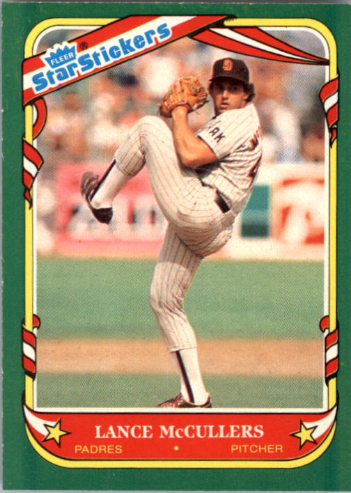 1987 Fleer Star Stickers #76 Lance McCullers