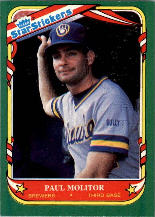 1987 Fleer Star Stickers #78 Paul Molitor