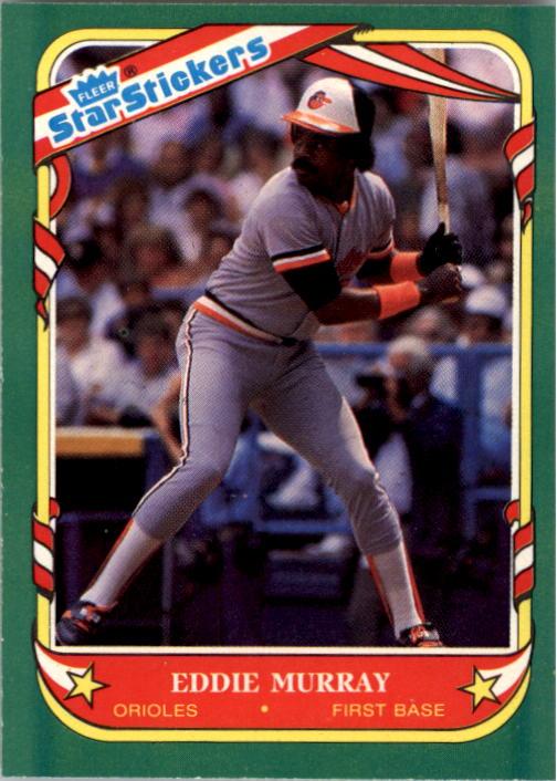 1987 Fleer Star Stickers #84 Eddie Murray
