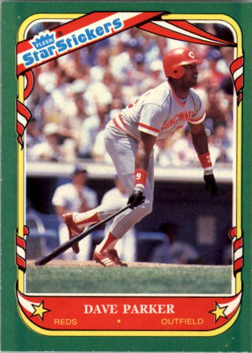 1987 Fleer Star Stickers #88 Dave Parker