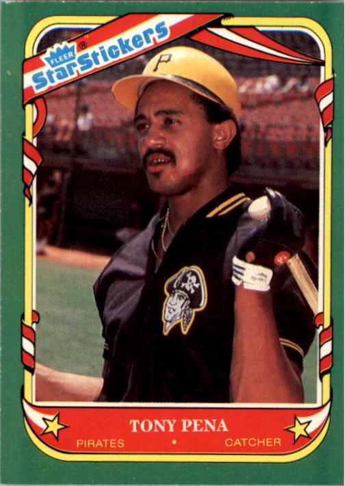 1987 Fleer Star Stickers #90 Tony Pena