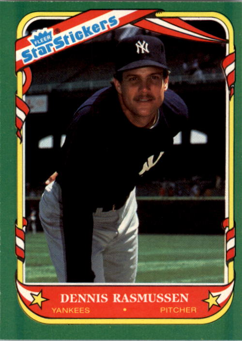 1987 Fleer Star Stickers #95 Dennis Rasmussen