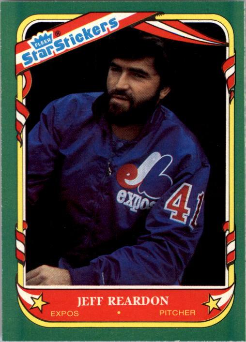 1987 Fleer Star Stickers #98 Jeff Reardon