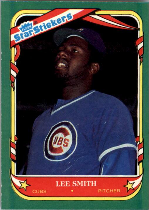 1987 Fleer Star Stickers #110 Lee Smith