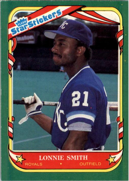 1987 Fleer Star Stickers #111 Lonnie Smith