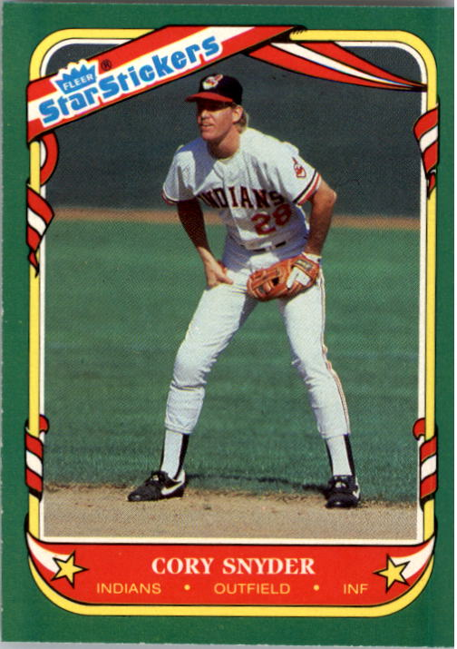 1987 Fleer Star Stickers #113 Cory Snyder