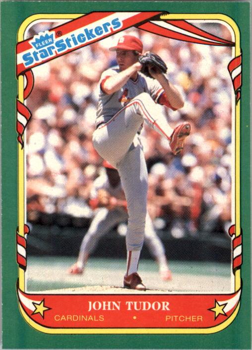 1987 Fleer Star Stickers #119 John Tudor
