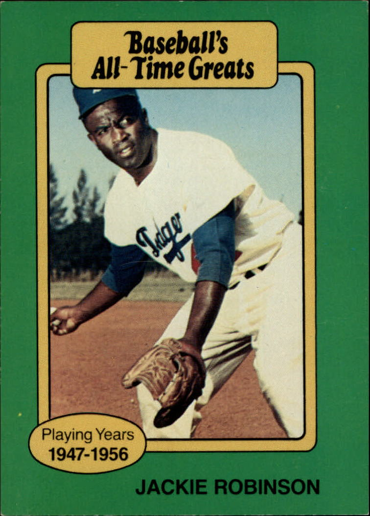 1987 Hygrade All-Time Greats #80A Jackie Robinson