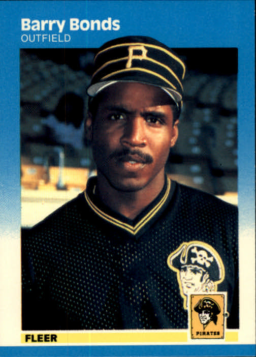 1987 Fleer #604 Barry Bonds RC