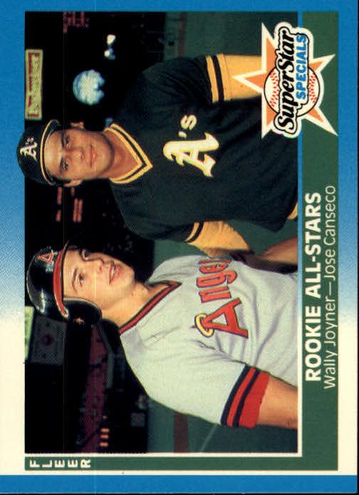 1987 Fleer #628 Wally Joyner/Jose Canseco