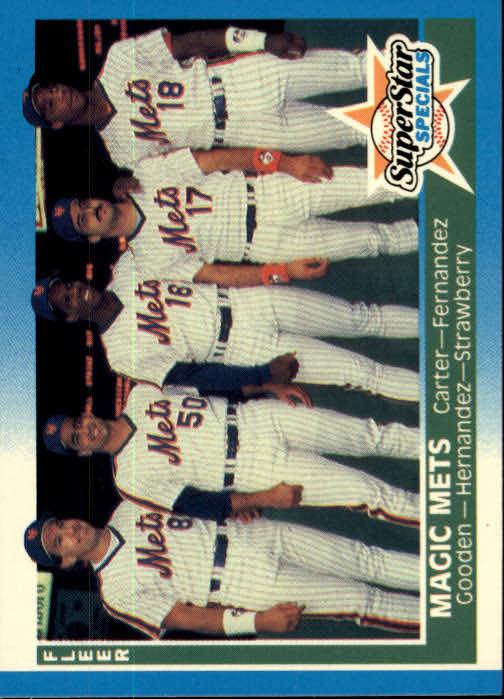 1987 Fleer #629 Gary Carter/Sid Fernandez/Dwight Gooden/Keith Hernandez/Darryl Strawberry