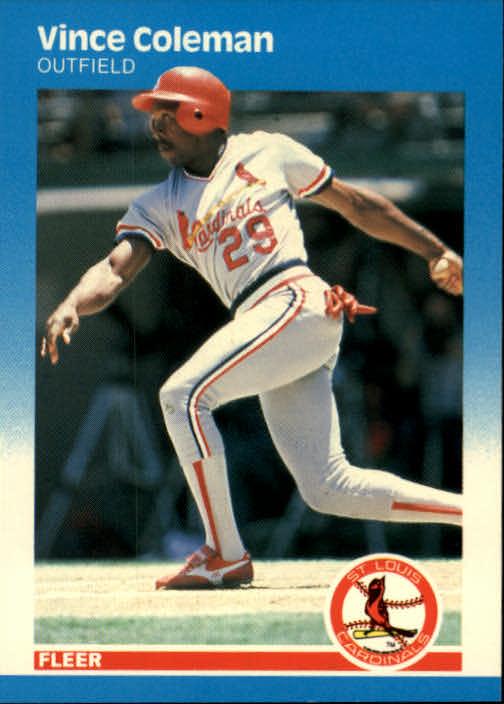 1987 Fleer Glossy #290 Vince Coleman