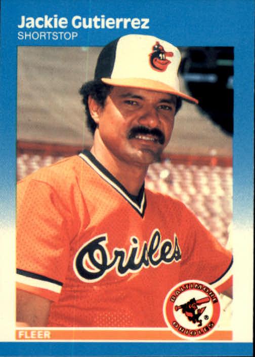 1987 Fleer Glossy #471 Jackie Gutierrez