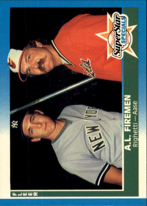 1987 Fleer Glossy #627 AL Firemen/Dave Righetti/Don Aase