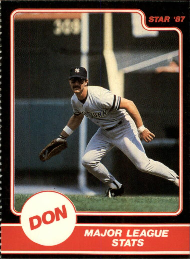 1987 Star Mattingly #3 Don Mattingly/Major League Stats