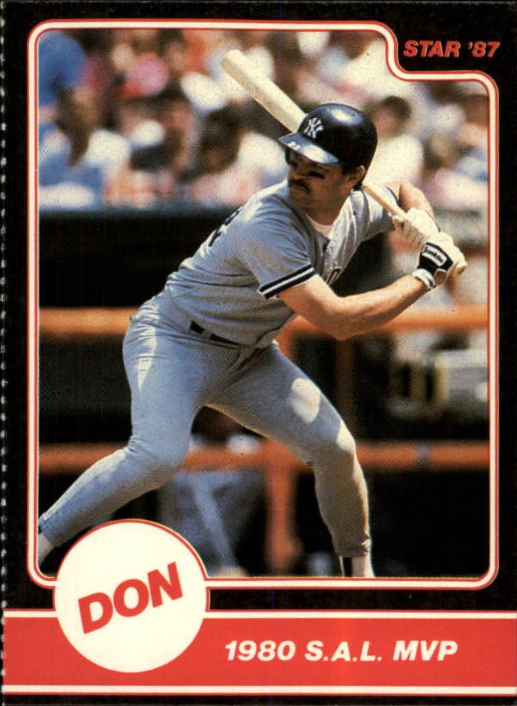 1987 Star Mattingly #6 Don Mattingly/1980 S.A.L. MVP