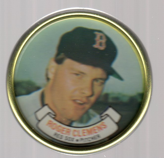 1987 Topps Coins #8 Roger Clemens