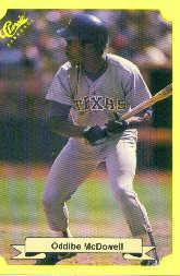 1987 Classic Update Yellow #115 Oddibe McDowell